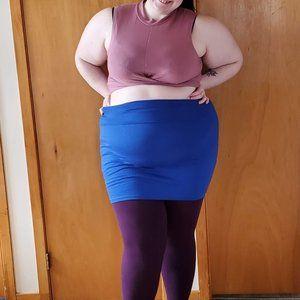 Royal Blue strechy mini skirt